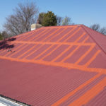 Acrylic-waterproofing-on-a-corrugated-iron-roof
